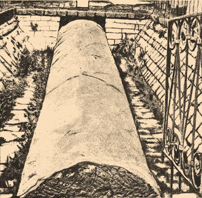 אצבע עוג מלך הבשן כפי שנראתה בין השנים 1906 ל-1913 - צילום: ויקימדיה