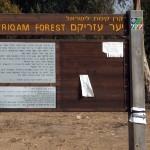 שילוט אודות יער עזריקם - צילום: אפי אליאן