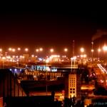 ארובות תחנת הכוח באשדוד כפי שנראות מגבעת יונה באשדוד - צילום: אפי אליאן