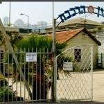 השער לביתני מוזיאון רכבת ישראל בחיפה