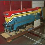 דגם של קטר דיזל מס' 131 של רכבת ישראל