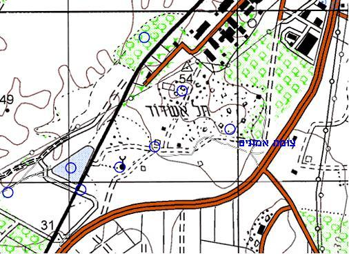 מפת הגעה לתל איסדוד - צומת אמונים - תצלום מסך: אתר עמוד ענן