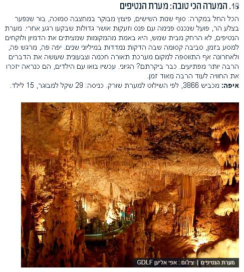 מתוך 100 המקומות היפים ביותר בישראל - צילום: מהיסטוריה על המפה