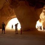 מבקרים במערות הפעמון בגן הלאומי בית גוברין תל מרשה