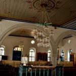 פנים בית הכנסת בבית הספר מקוה ישראל