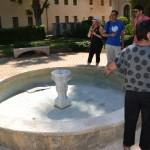 מזרקת המים המקורית של מקוה ישראל ששופצה לאחרונה