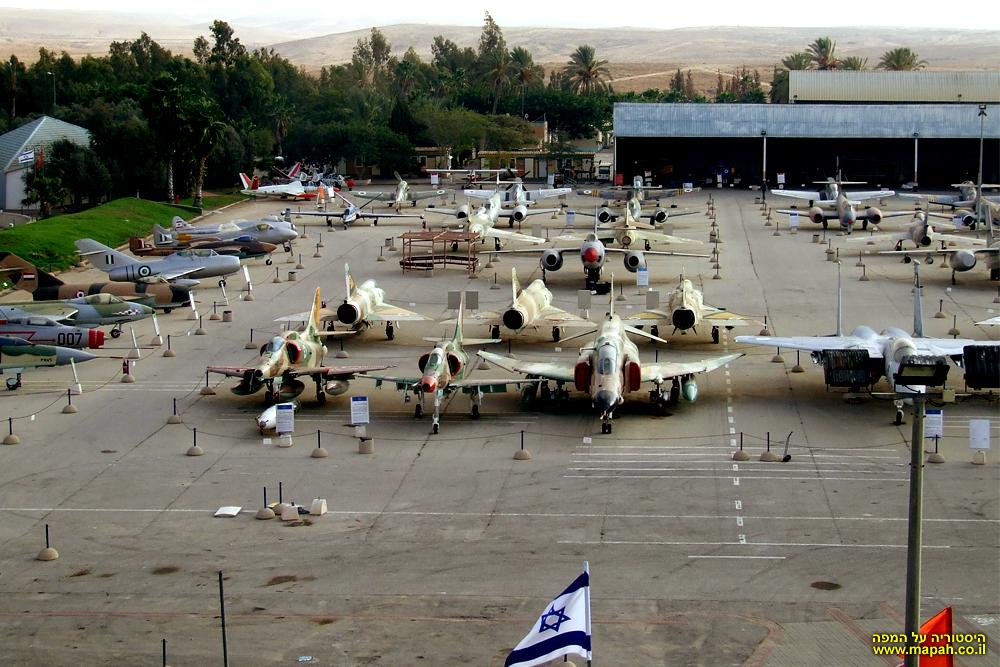 החלק הצפוני של מוזיאון חיל האויר ורחבת התצוגה
