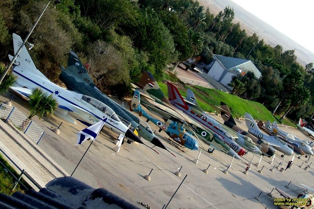 שורת מטוסי האויב שנלקחו כשלל במלחמות ישראל