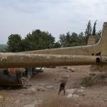 חלקו האחורי של מטוס הנורד מס' 072 ביער המגינים