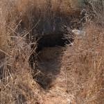 המבנה האחרון שנותר על תילו בתל קטרה - חלק מכיפת תקרת בית