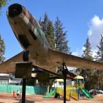 חזית מטוס המיסטר בגן הבנים בעיר רחובות - לזכרו של סגן חיים הולצמן