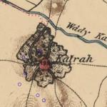 מפת הכפר קטרה לפי מפת PEF משנת 1880 - צילום מסך: אתר עמוד ענן