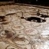 הפסיפס ובמרכזו פתח הבאר ששימשה את דיירי הארמון - צילום: אפי אליאן
