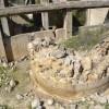 שרידי הכבשן במפעל הגופרית ביער בארי - צילום: אפי אליאן