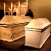"""הסרקופגים שנחשפו בסמוך לקברו של הורדוס בהורדיון ע""""י פרופ' אהוד נצר - צילום: אפי אליאן"""
