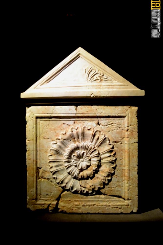 ארון הקבורה המשוחזר של המלך הורדוס - צילום: אפי אליאן