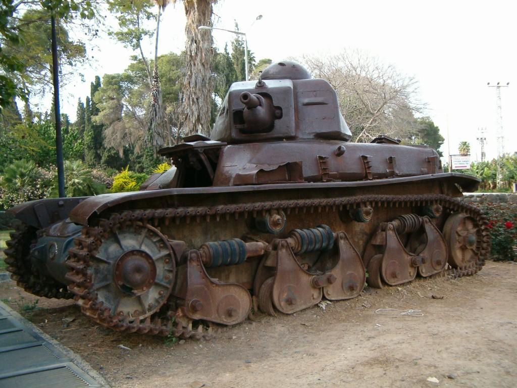 הטנק הסורי מקיבוץ דגניה א - צילום: Bukvoed