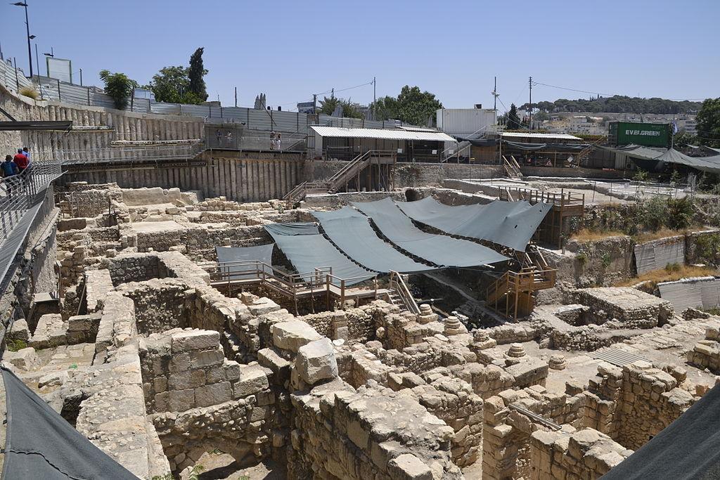 האתר הארכאולוגי שנחשף תחת חניון גבעתי בירושלים - צילום: אפי אליאן