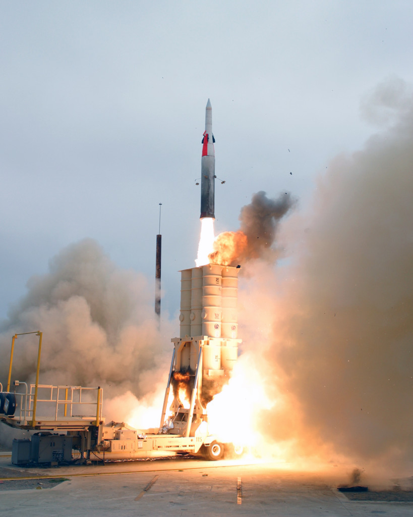 טיל חץ-2 במהלך שיגור - צילום ארכיון
