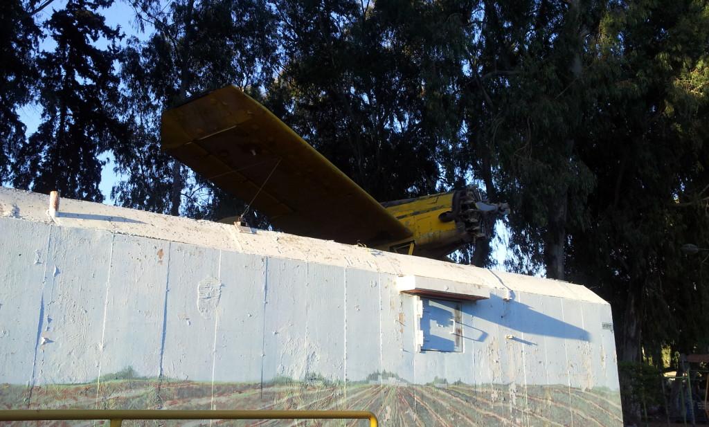מטוס מגן המטוס בקיבוץ נען - צילום: אפי אליאן