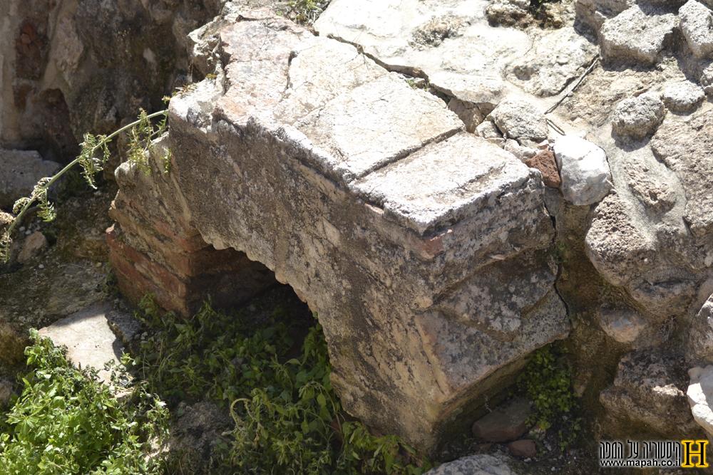 תנור החימום של בית המרחץ הרומי - צילום: אפי אליאן