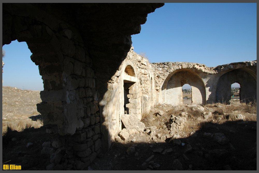 פנים המסגד מכיוון מערב - צילום: אפי אליאן