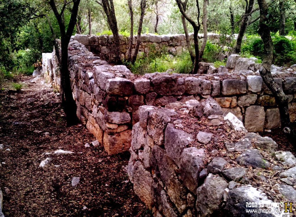שרידי מבנים עתיקים מהתקופה הרומית בחורבת דנעילה - צילום: אפי אליאן