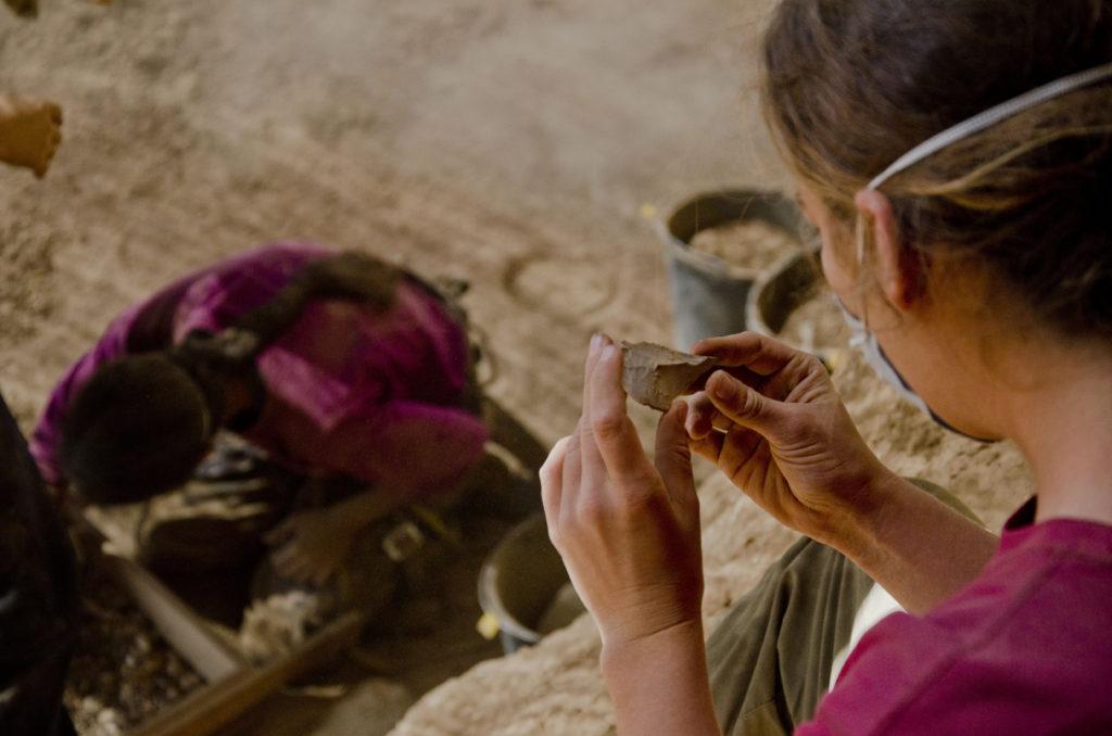 עבודות המתנדבים בחפירה הארכיאולוגית. צילום: יולי שוורץ