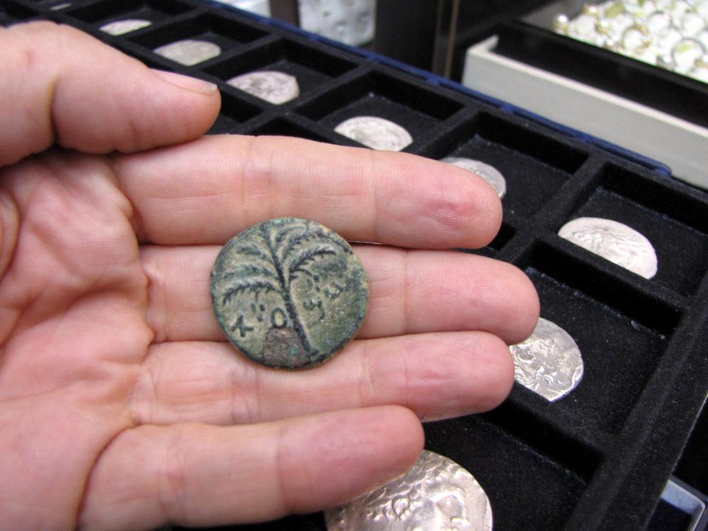 מטבע הנושא את שמו של המצביא שמעון בר-כוכבא