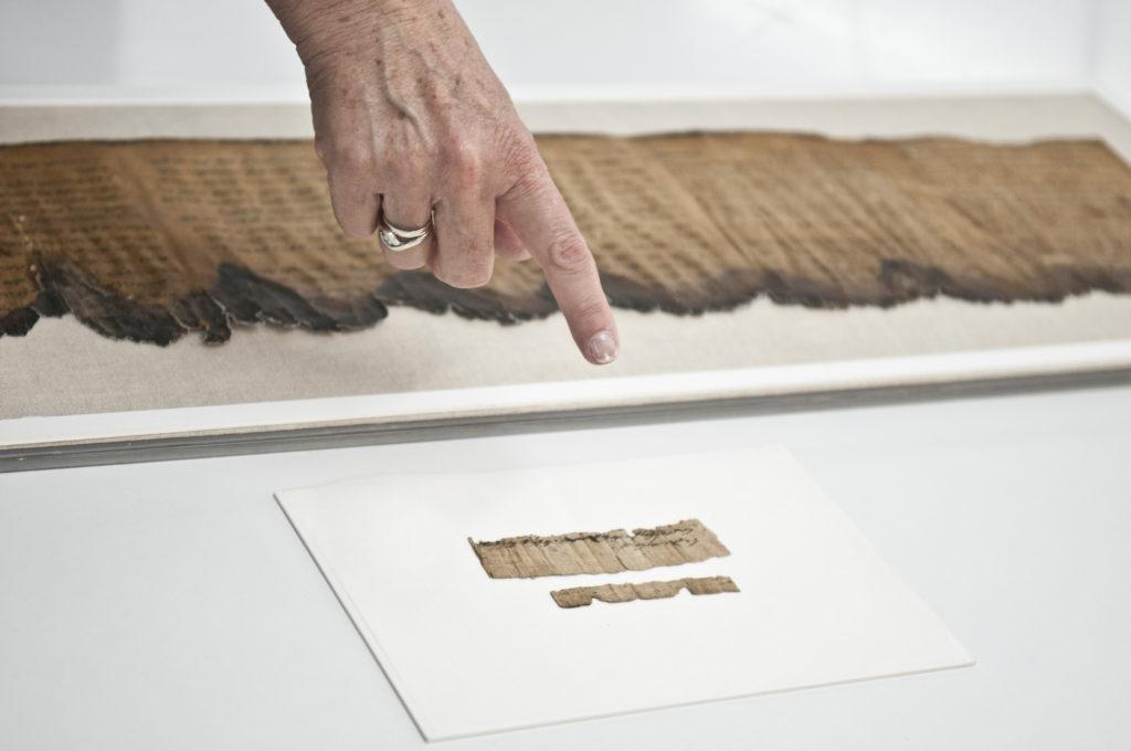 התעודה שמורה במעבדות שימור מגילות מדבר יהודה של רשות העתיקות. צילום: שי הלוי