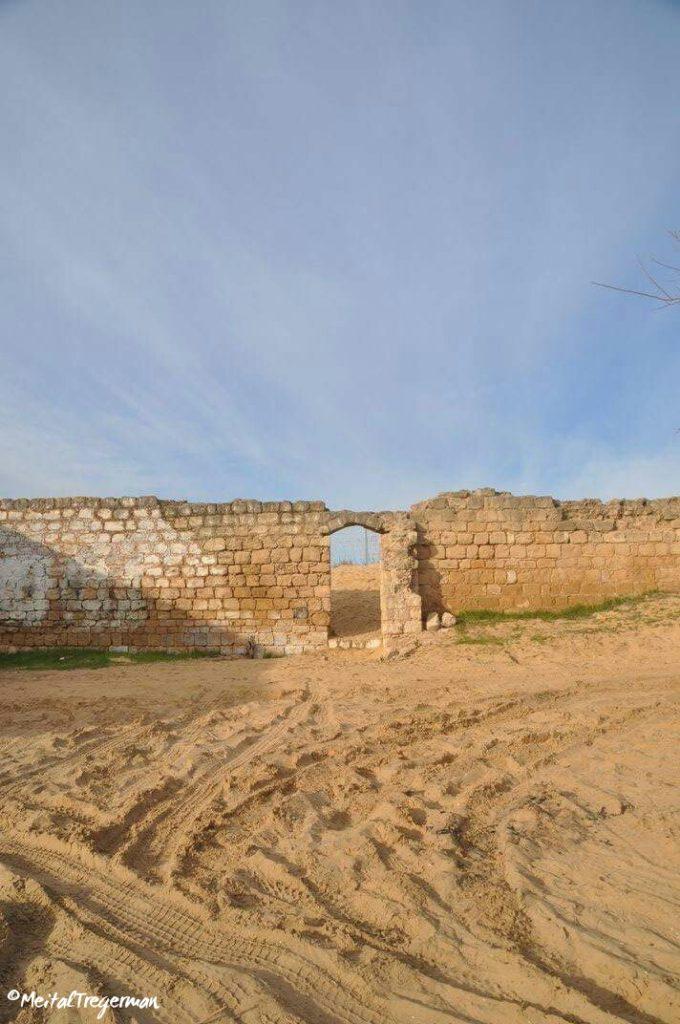 חומת כורכר הסובבת את מתחם נבי רובין - צילום: מיטל טרגרמן
