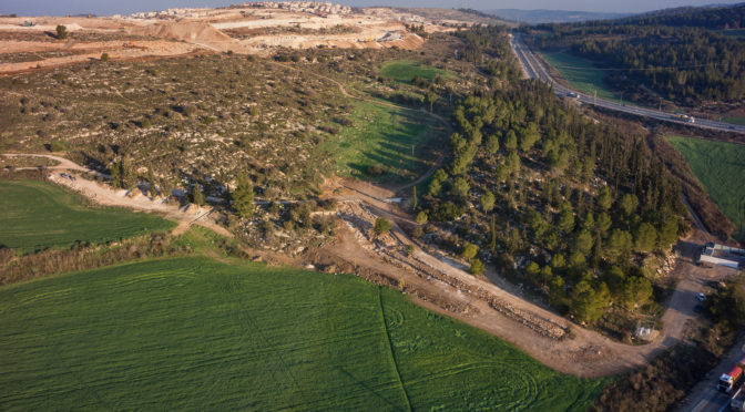 דרך רומית כבת 2000 שנה נחשפה בסמוך לבית שמש