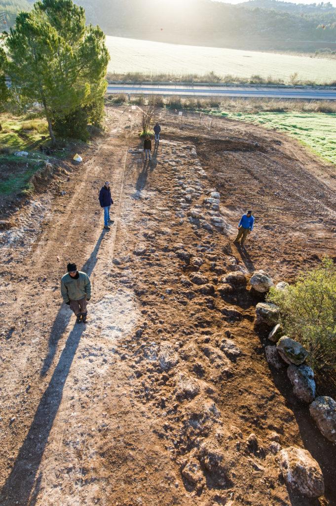 עבודות החפירה של הדרך הרומית. צילום: אסף פרץ