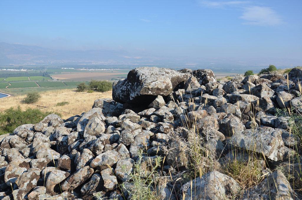 הדולמן בן 4,000 השנה. צילום: גונן שרון, המכללה האקדמית תל-חי