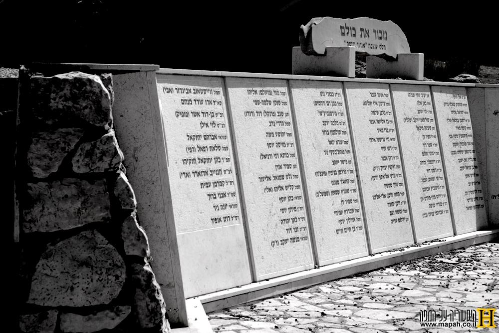 לוחות שמות הנופלים של חטיבה 27 - צילום: אפי אליאן
