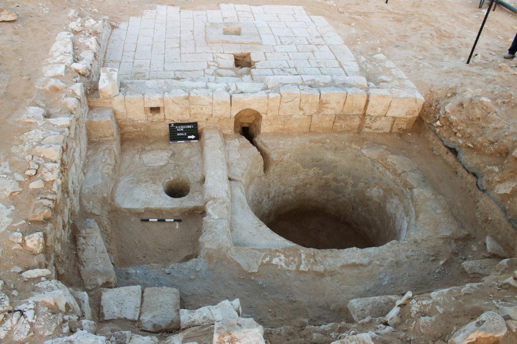 הגת המשולבת במבנה. צילום: דוידה דגן, רשות העתיקות