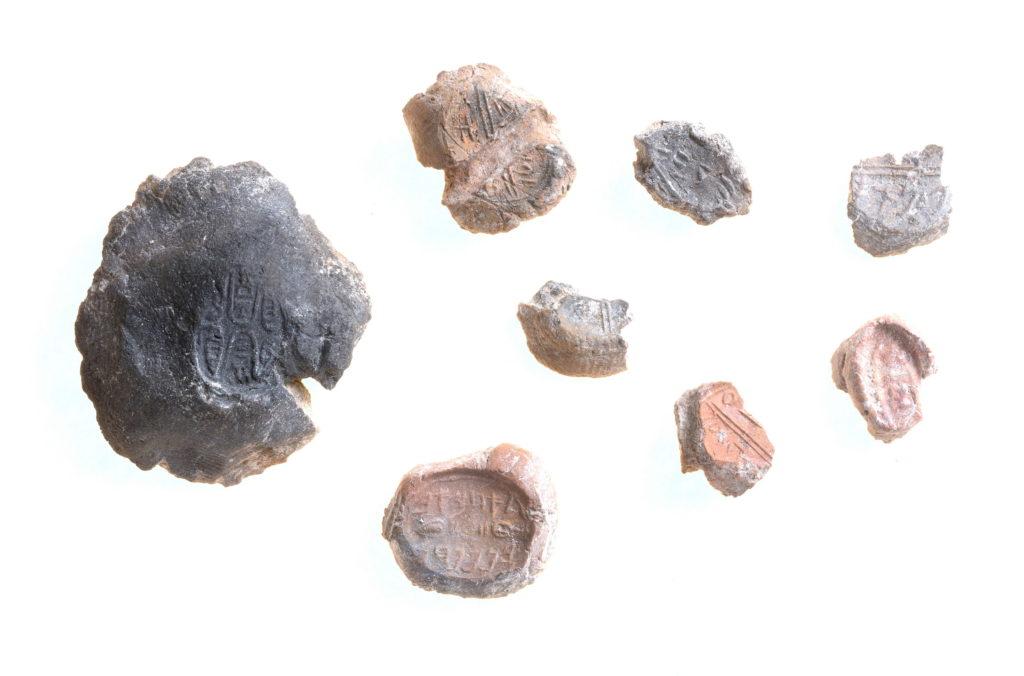 מקבץ של בולות. צילום: קלרה עמית, רשות העתיקות