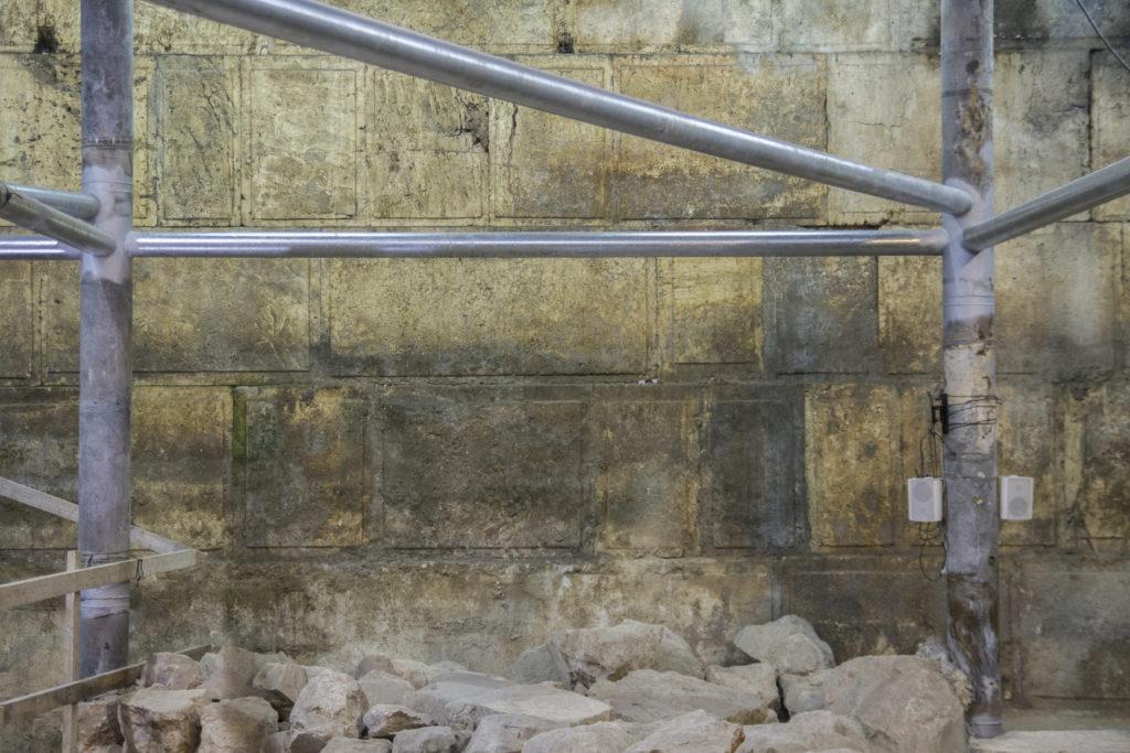 בחפירה נחשפו 8 נדבכים מאבני הכותל. צילום: יניב ברמן