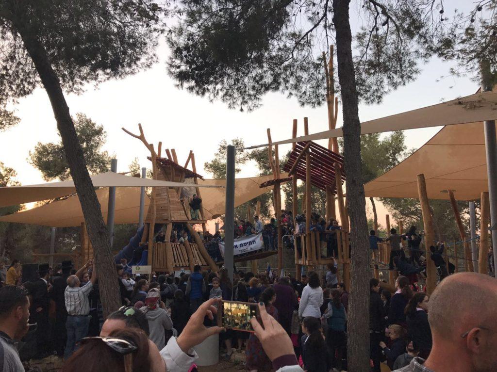 בטקס חנוכת גן הסנהדרין צילום: ששון תירם