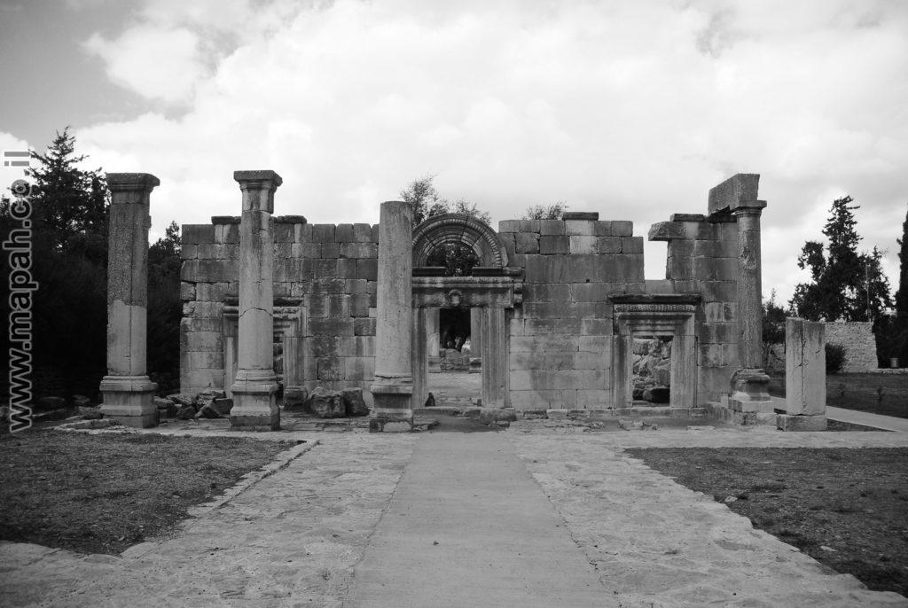 חזית בית הכנסת הגדול ברעם צילום ש/ל  - צילום: אפי אליאן